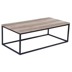 Table basse Antonio 60x120 industriel - chêne vieilli
