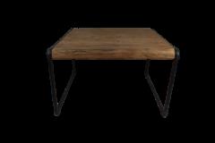 Table basse Fer - 60x60 cm - naturel / noir - teck / fer