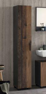 Colonne salle de bains Casa - bois/graphite