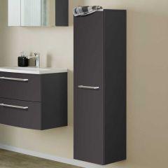 Colonne Gene 30cm 1 porte - gris graphite/gris mat