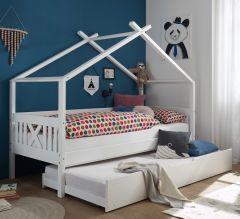 Lit maison Leona 90x200 - blanc