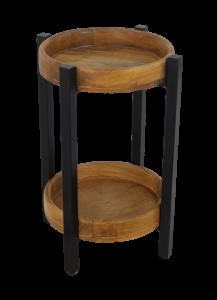 Table d'appoint Hudson - 35x35 cm - bois de mangue / fer