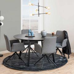 Table à manger Rover Ø140 - noir
