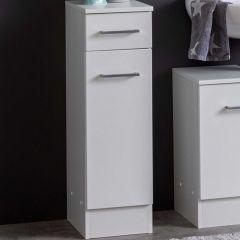 Armoire salle de bains Ricca 25cm 1 porte & 1 tiroir - blanc