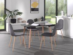 Table 'Evi' 120x80 Noir mat