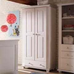 Garde-robe Laurel 96cm à 2 portes & 1 tiroir - blanc