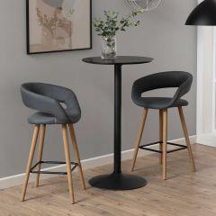 Table de bar Ibbo Ø60 - noir