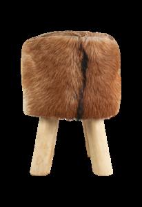 Repose-pied rond - ø33 cm - peau de chèvre