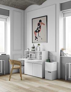 Bureau/meuble de rangement Fox 110cm - blanc