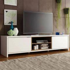 Meuble tv Trent 180cm à 2 portes - blanc