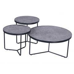 Lot de 3 tables basses Simon