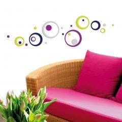 Stickers muraux 3D Colourful Circles - mousse