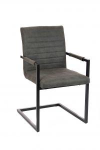 Lot de 2 chaises cantilever Bob - taupe