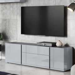 Meuble TV Mussa 180cm - gris