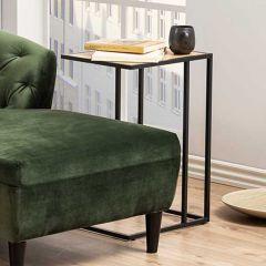 Table d'appoint Dover - noir/chêne sauvage