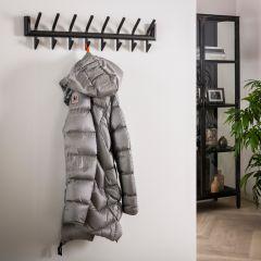 Porte-manteau Gorka 8 crochets - gris foncé