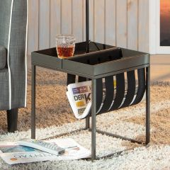 Table d'appoint Nubis 35x35 - anthracite