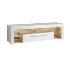 Meuble tv Gazza avec 1 porte - blanc