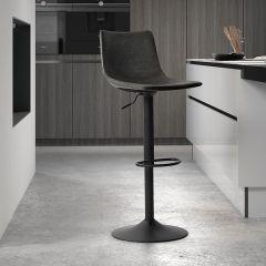 Lot de 2 chaises de bar réglables Fontana - anthracite
