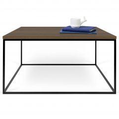 Table basse Gleam 75x75 - noyer/acier