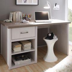 Bureau Larnaca 141cm avec 1 tiroir - blanc