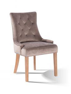 Lot de 2 chaises de salle à manger Bristol - beige/naturel