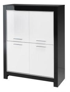 Vaisselier Modena - blanc/noir