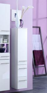 Colonne salle de bains Small 25cm 1 porte & 2 tiroirs - blanc brillant