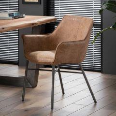 Lot de 2 chaises de salle à manger Wali - brun