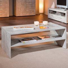 Table basse Béton 115x60 industriel - gris