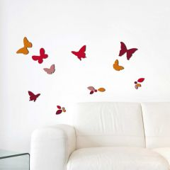 Stickers muraux 3D Butterflies & Leaves - mousse