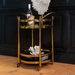 Trolley Hendry rond - or/verre