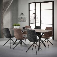 Table á manger 190x90cm Oval 3d texture - 3D beton