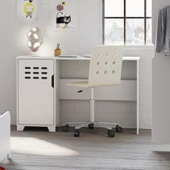 Bureau Loki 125cm - blanc