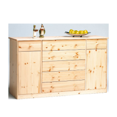 Bahut Markus 150cm 2 portes & 7 tiroirs - nature