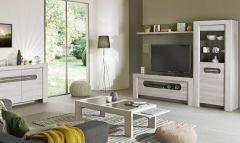 Table basse Sandrine 120x65 avec 2 tirettes -chêne