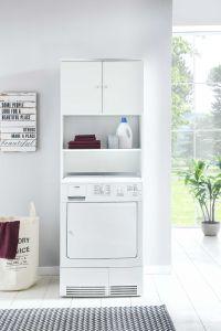 Meuble Zehra pour machine à laver - blanc