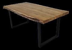 Table de repas SoHo - 200x100 cm - acacia / fer