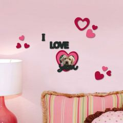Stickers muraux 3D I Love You - mousse