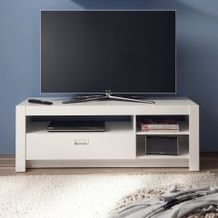 Meuble tv Arkea avec 1 tiroir - blanc