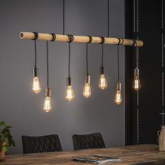 Suspension Serra Bambou 7 ampoules
