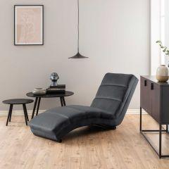 Chaise longue Slick - gris foncé/noir
