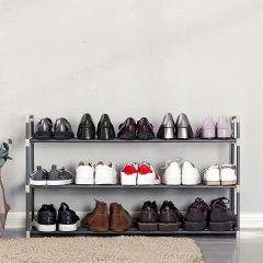 Etagère à chaussures Andreas 3 tablettes - gris