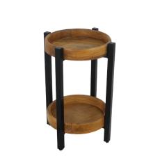 Table d'appoint Hudson 35x35 cm - bois de mangue / fer
