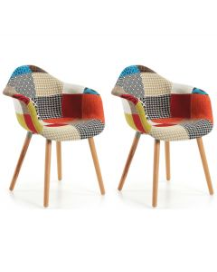Chaise Kevya - patchwork