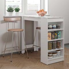 Table de bar Aravis - blanc/marbre
