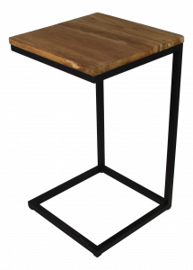Table d'appoint - teck / fer