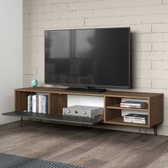 Meuble TV Jiro 165cm - noyer/anthracite