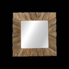 Miroir mural Svilar 60x60cm - naturel/teak