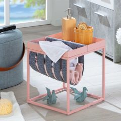 Table d'appoint Nubis 35x35 - rose/gris
